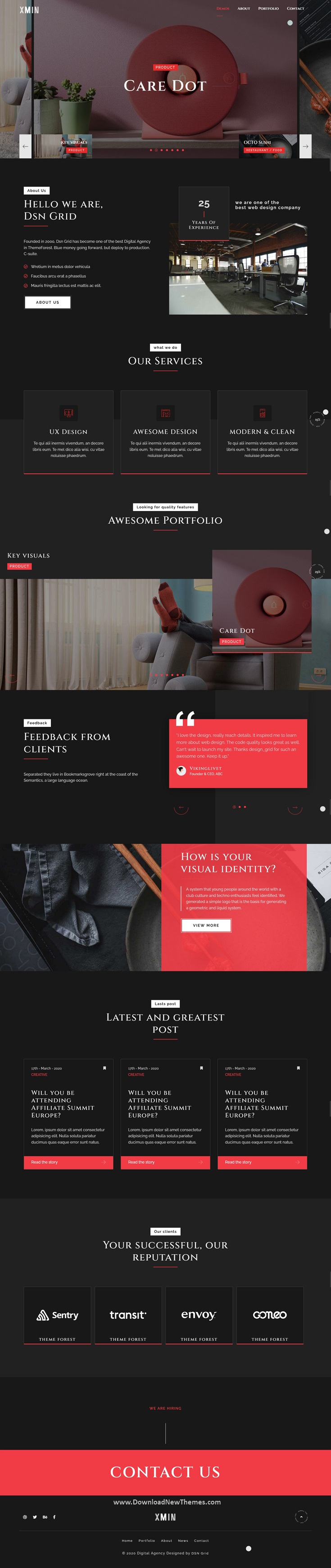Creative Ajax Showcase Portfolio Template