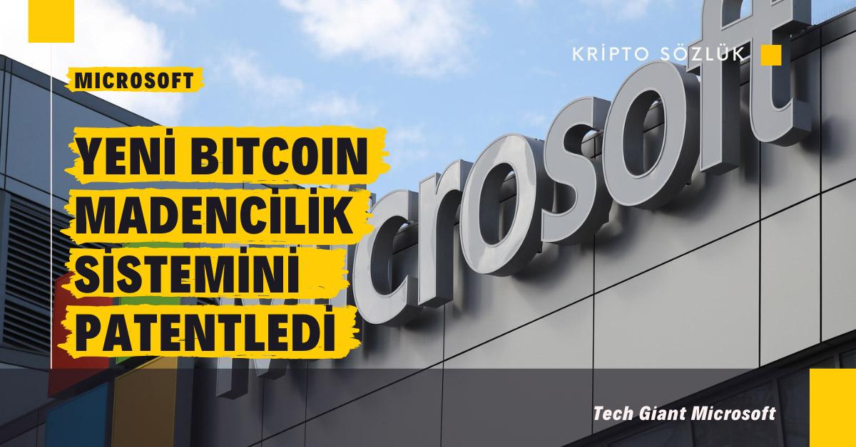 Microsoft yeni bir Bitcoin madencilik sistemi mi kuruyor?