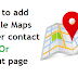 How To Add Map In Blogger Contact Or About Page