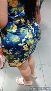Sexy madura trasero redondo vestido corto