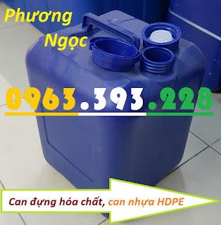 Can nhựa HDPE vuông, can nhựa 20L màu xanh, can đựng hóa chất 20 Lít Bf7b27f7eb070d595416