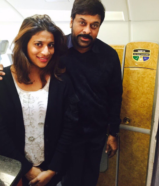 Megastar Chiranjeevi in khaidi no 150 working stills in europe