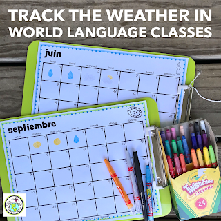 Track the Weather in World Language Classes Spanish French