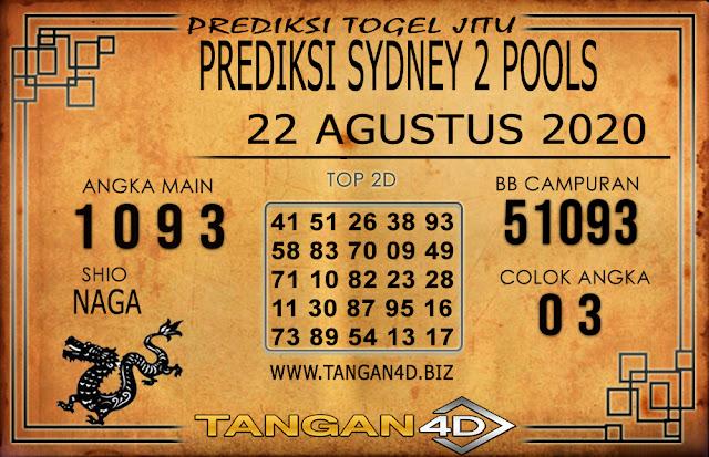 PREDIKSI TOGEL SYDNEY 2 TANGAN4D 22 AGUSTUS 2020
