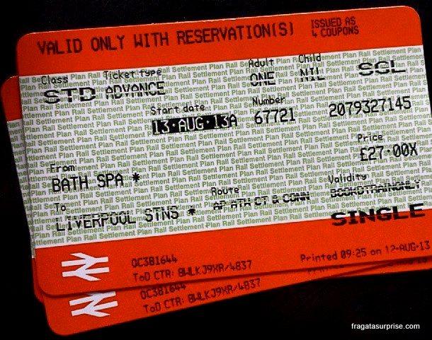 Passagem de trem para Liverpool