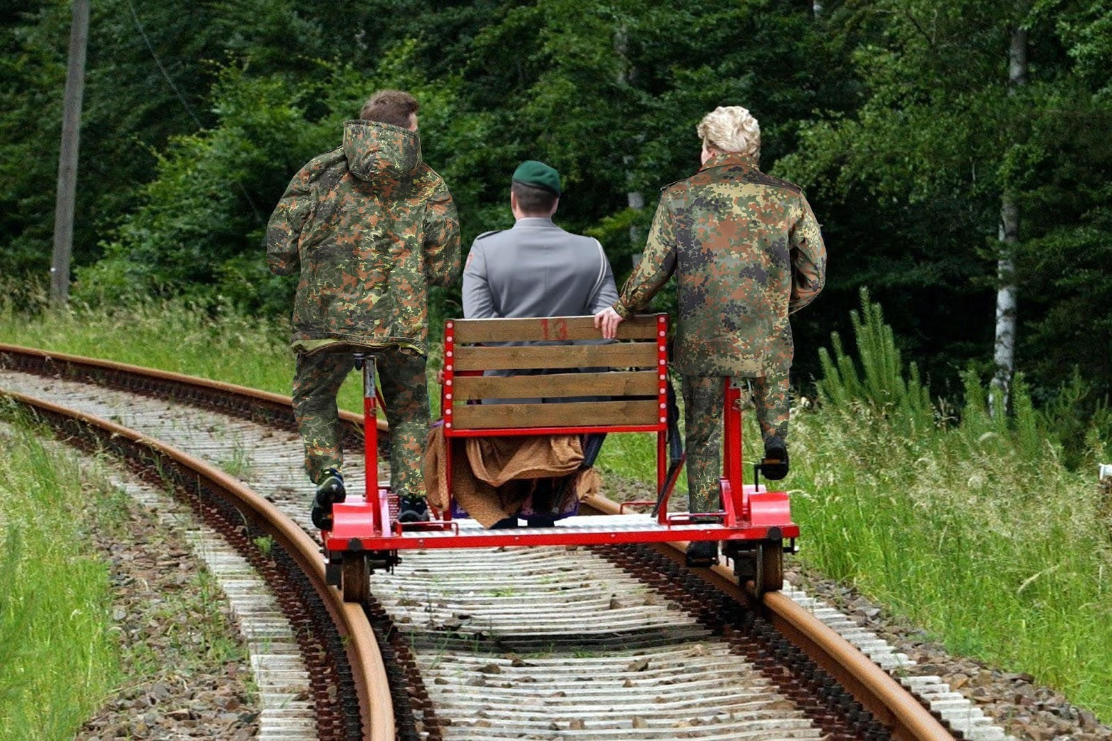 soldaten zug fahren