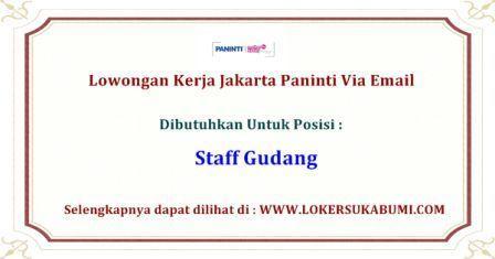 Lowongan Kerja Jakarta Paninti Via Email Terbaru Juni 2020