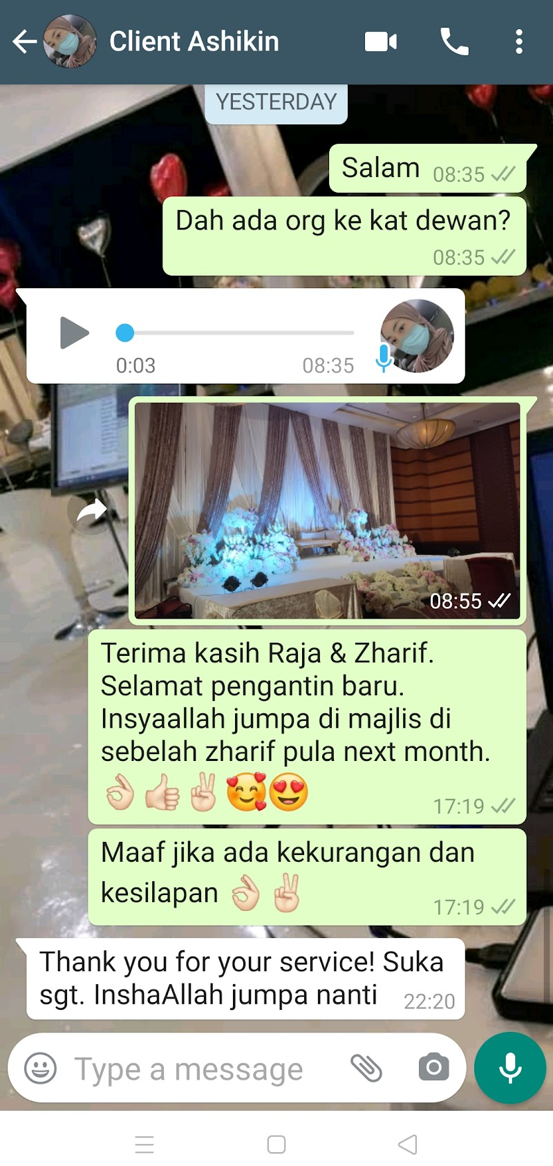 ANOTHER POSITIVE REVIEW/TESTIMONI BY OUR CLIENT