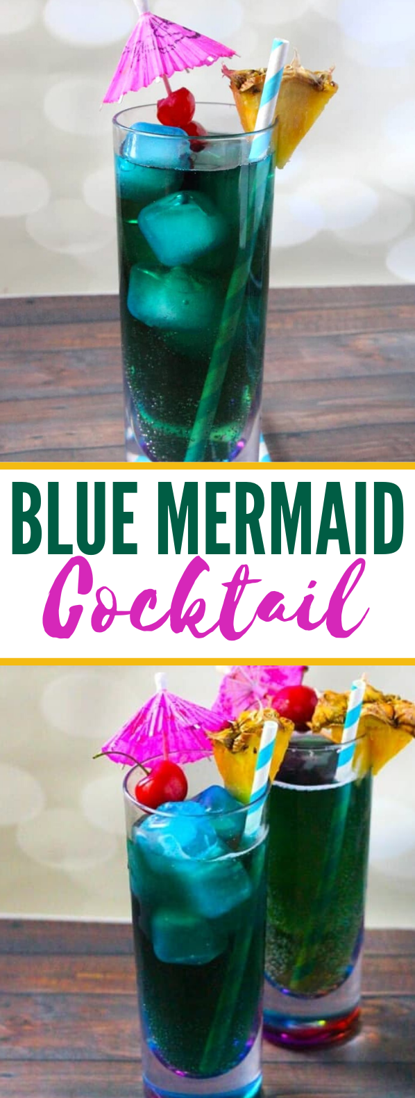 Blue Mermaid Cocktail #drinks #summerdrink