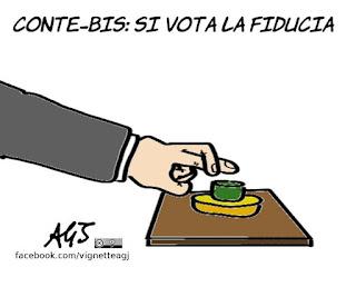 Conte bis, fiducia, m5s, pd, nuovo governo, montecitorio, politica, scaramanzia, vignetta, satira