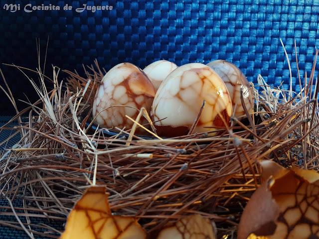 Huevos Chinos al Té (Huevos de Mármol)