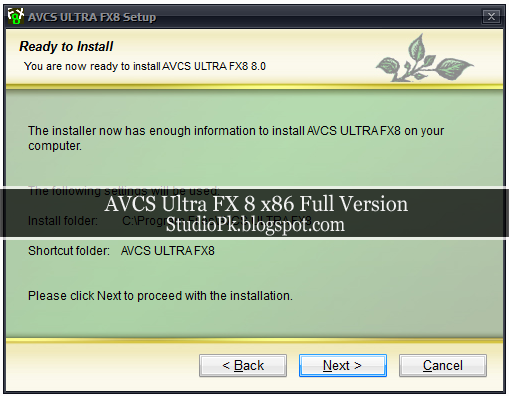 AVCS Ultra FX 8 x86 Full Version Download