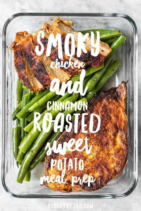 Smoky Chicken And Cinnamon Roasted Sweet Potato Meal Prep