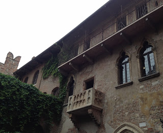 The romantic so-called 'Juliet balcony' became an attraction for visitors to visitors to Verona