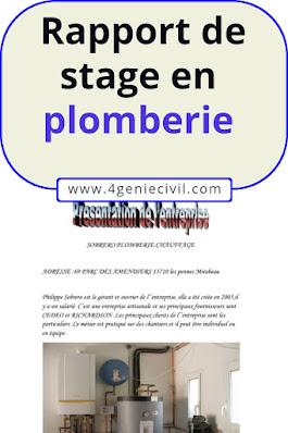 Exemple de rapport de stage plomberie bac pro   Cours ...