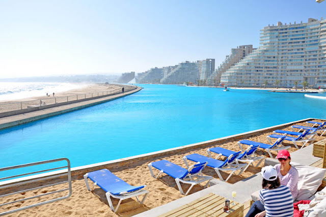 World's largest swimming pool is the size of 11 football pitches and looks VERY inviting