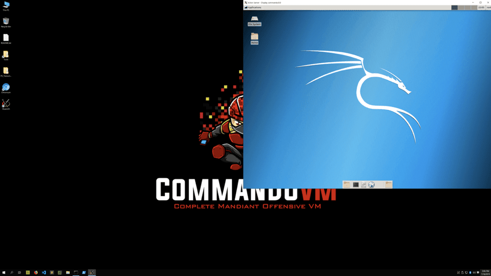 Commando VM 2.0   - commando 2BVM 2Bwith 2Bkali 2B 25281 2529 - Commando VM 2.0 – A new version of Offensive Pentesting VM