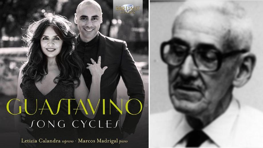 Cover Guastavino Song Cycles e ritratto Carlos Guastavino.
