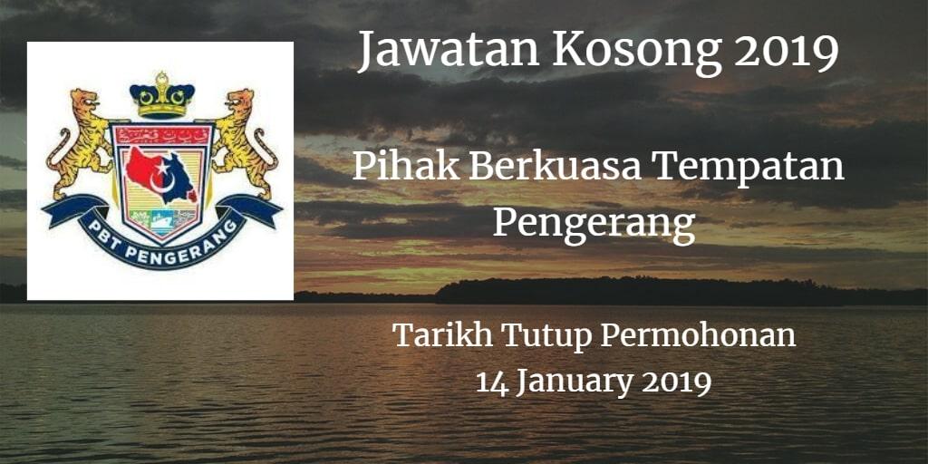 Jawatan Kosong Pihak Berkuasa Tempatan Pengerang 14 January  2019