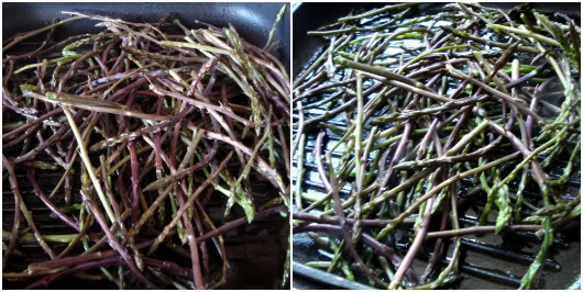 cooking wild asparagus