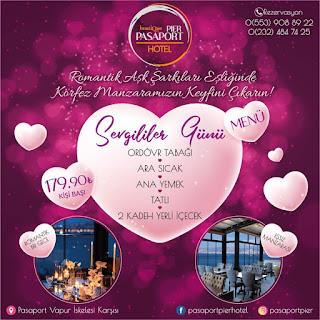 Pier Roof İzmir Sevgililer Günü Programı Menüsü 2020