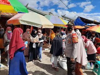 Gencar Pelaksanaan Ops Yustisi Polsek Alla Sasar Pasar Sudu Kelurahan Kambiolangi