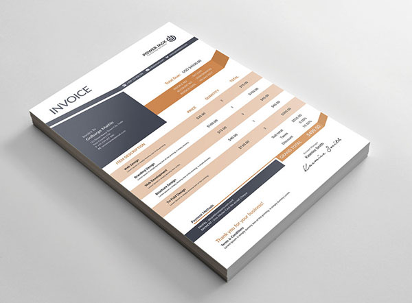 Template Invoice Gratis - Clean Free Invoice design Template