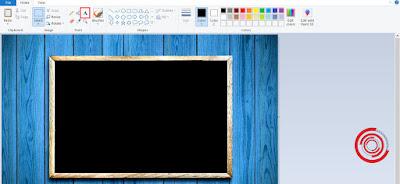 1. Langkah pertama untuk mengetik di aplikasi Paint, silakan kalian buka gambar atau foto yang ingin di edit dengan menambahkan teks. Lalu klik pada ikon A, yaitu ikon untuk mengetik pada Paint
