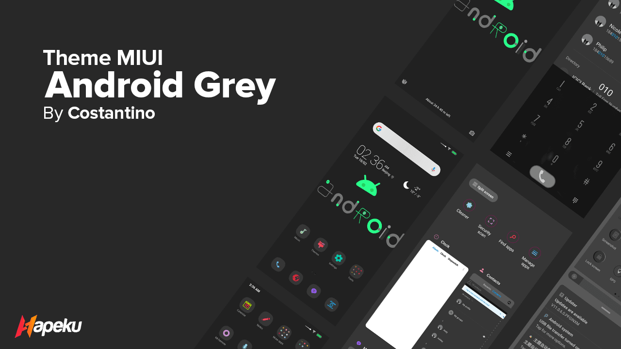 Theme MIUI Android Grey for MIUI 10 & 11