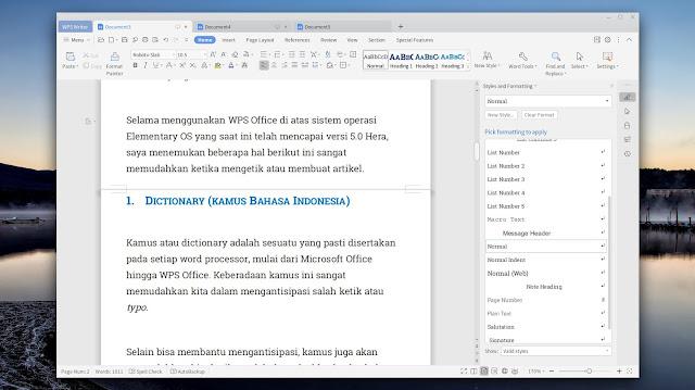 Menambah Kamus dan Cara Ganti Font di WPS Office