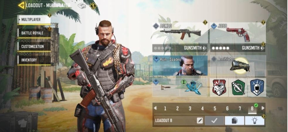 What is Loadouts and Gunsmith in call of duty mobile?