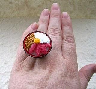 Diseño de anillo muy creativo e inusual en forma de comida