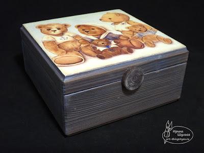 Мишка-Тедди шкатулка