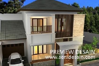 Jasa design 3d rumah konsep bali menarik