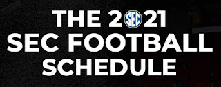 SEC, College Football, Schedule, 2021, 14-weeks, Team-by-Team, FBS, games, matchups, dates, Print, PDF Downloadable.