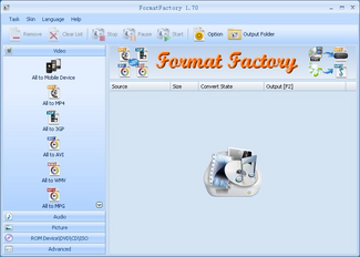 format factory تحميل برنامج تحويل الصيغ