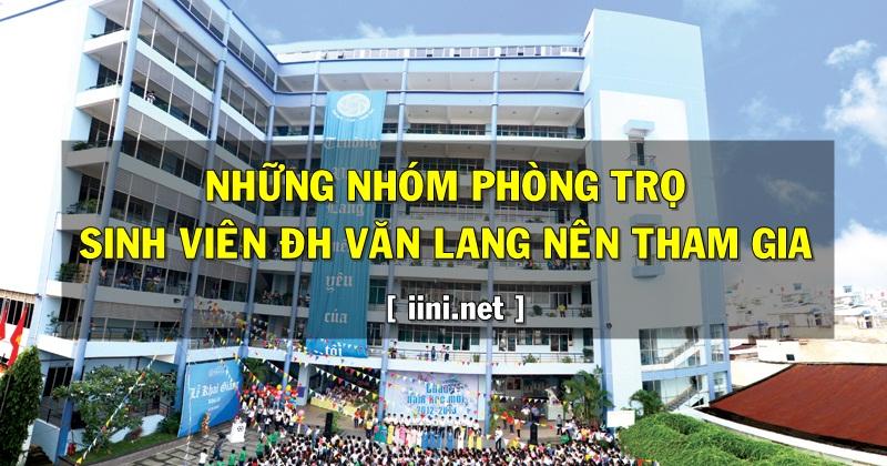 Những nhóm phòng trọ sinh viên ĐH Văn Lang nên tham gia