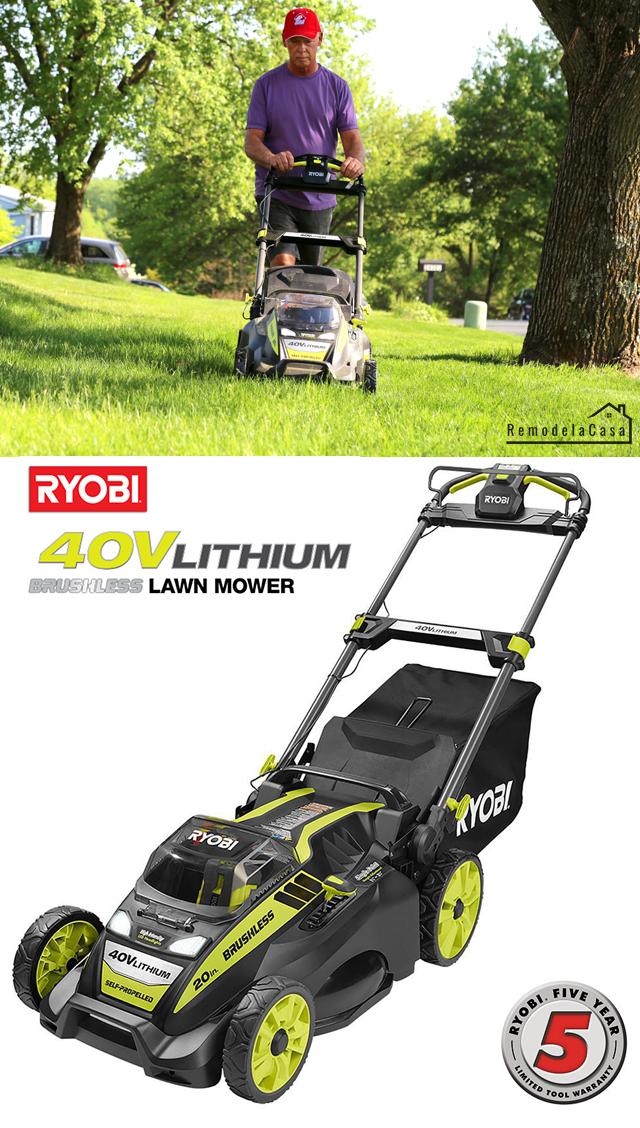 Ryobi brushless cordless lawn mower
