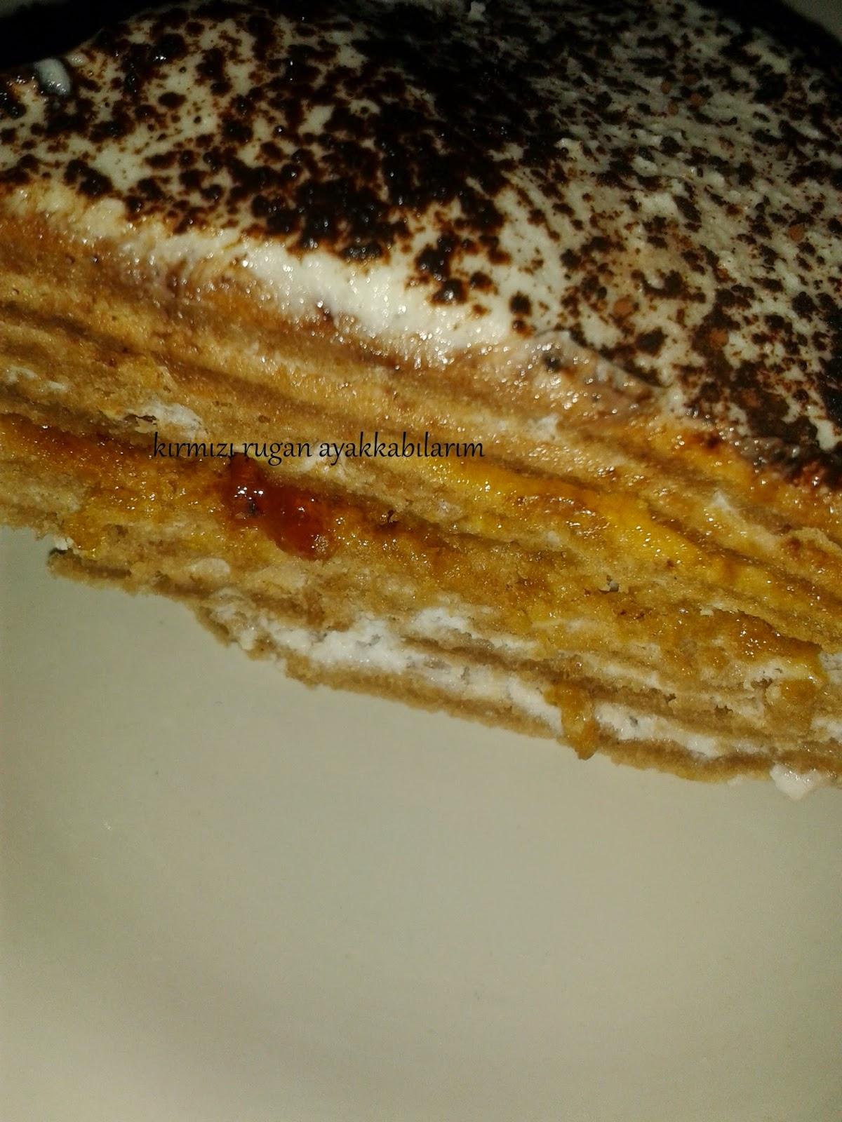 portakal soslu krep pastası
