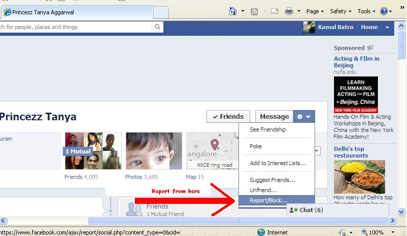 report in fb