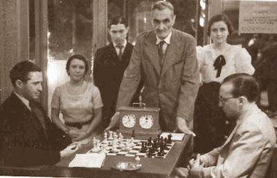 Partida Heinrich Silbermann - Rafael Lloréns en el Torneo de Barcelona de 1936