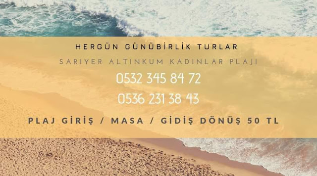 istanbul kadınlara özel sarıyer altınkum plajı