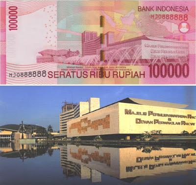 Penampakan Asli Dari Uang Rupiah Indonesia Seratus Ribu Rupiah