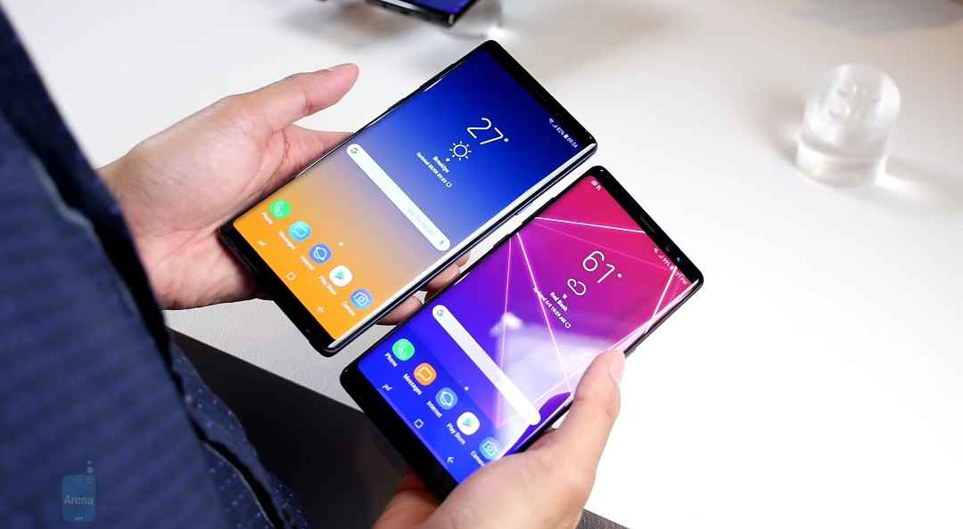 The Samsung Galaxy Note 9 And The Galaxy Note 8 Difference In Sizes.