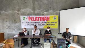 Operator  eHDW dan eDMC19 Se Kecamatan  Ambalawi Ikut Pelatihan Penggunaan Aplikasi