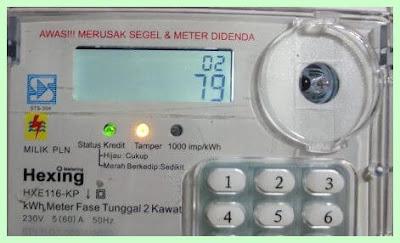 kode cek batas  kWh existing
