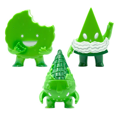 Green Foster, Pie Guy & Milton Vinyl Figures by Super7