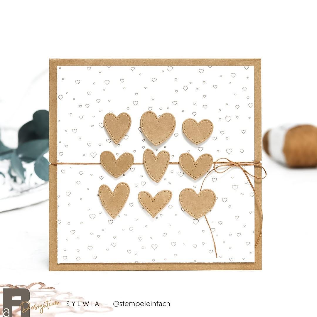 karte-Herzen mit Stiches-Alexandra Renke