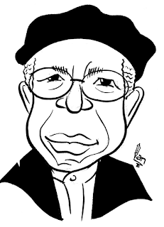 Chinua Achebe caricature  by Ian Davy Brown