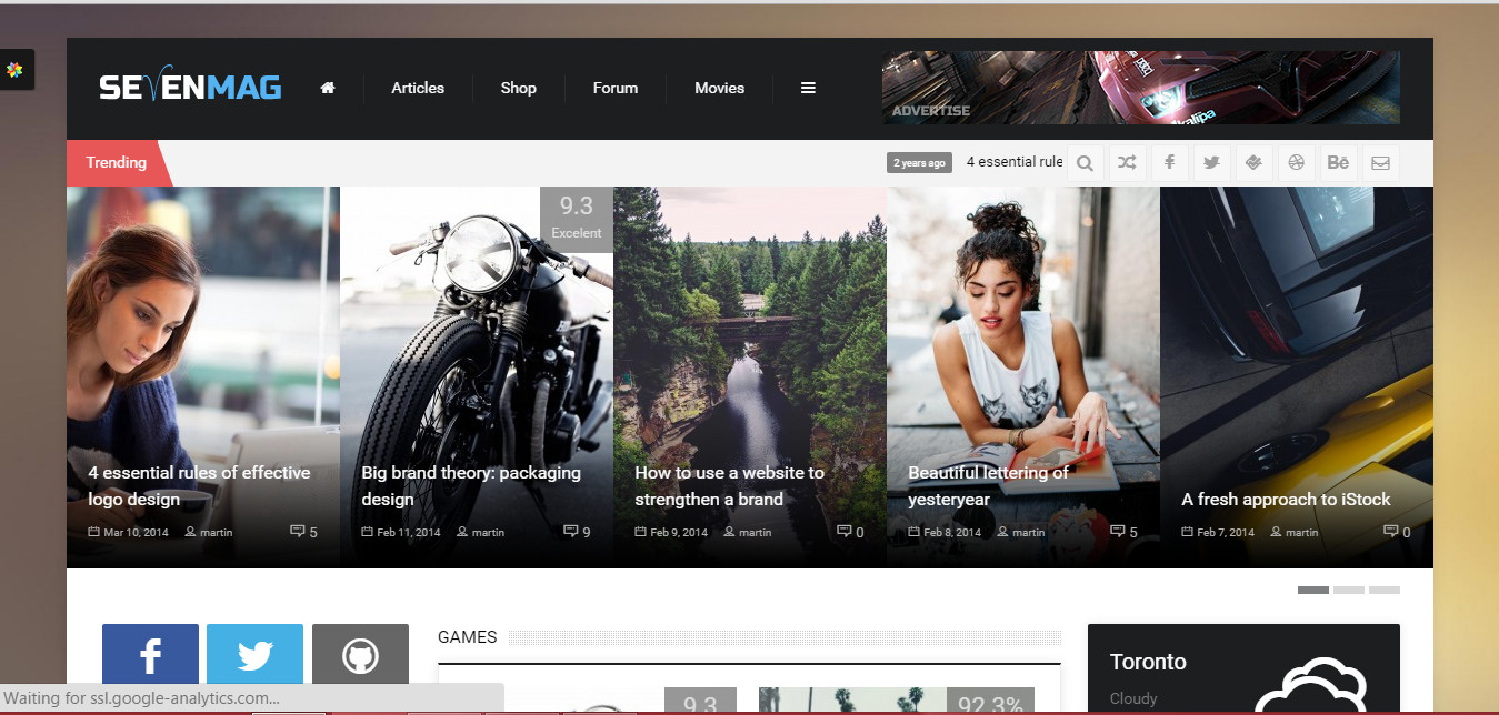 Magazine flat design wordpress news theme